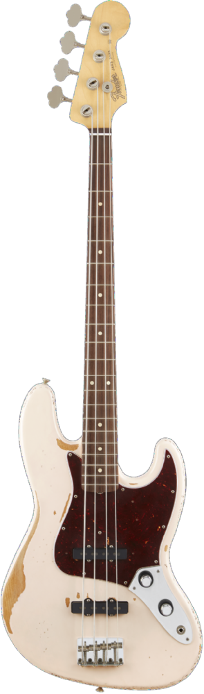Fender Flea Jazz Bass, Road Worn Faded Shell Pink